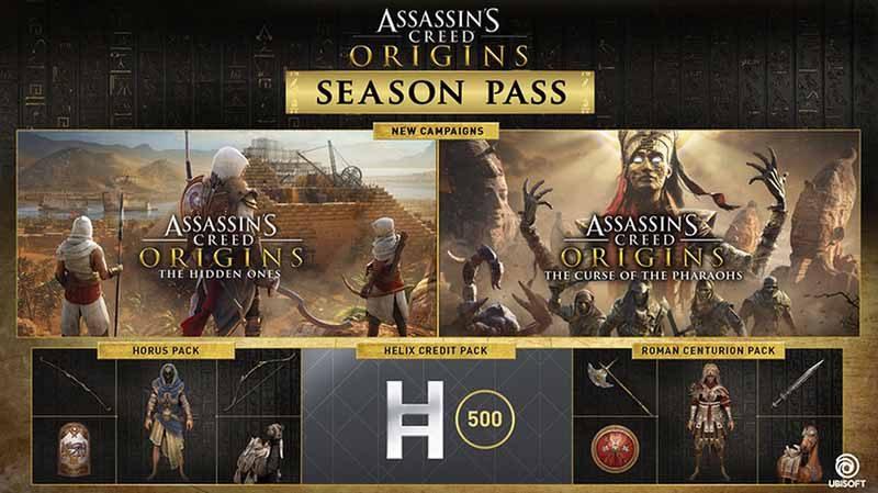 سی دی کی Assassin's Creed Origins Season Pass