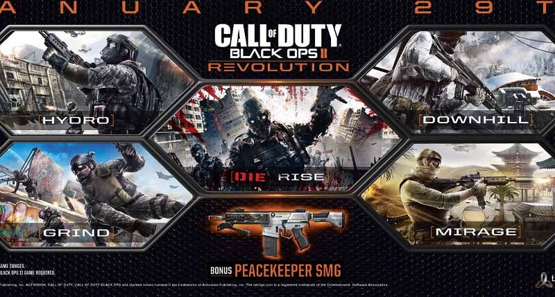 دی ال سی Call of Duty Black Ops 2 Revolution DLC