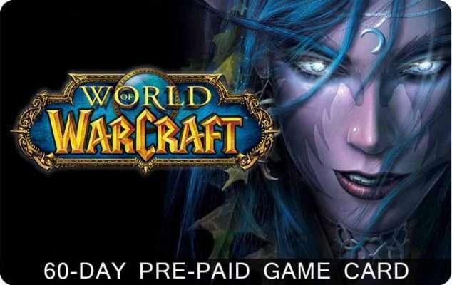 تایم کارتWorld of Warcraft 60 Day Time Card (شصت روزه)