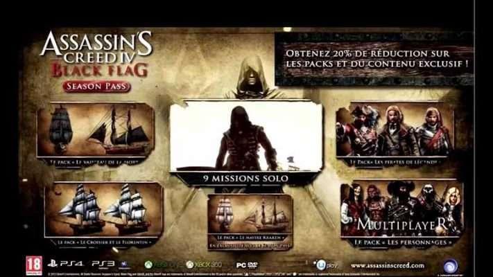 سی دی کی Assassin's Creed IV Black Flag Season Pass