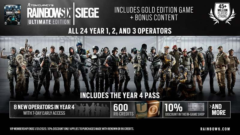 سی دی کی اورجینال Rainbow Six Siege Ultimate Edition