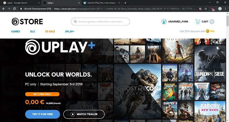 خرید اشتراک Uplay+ (یوپلی پلاس)