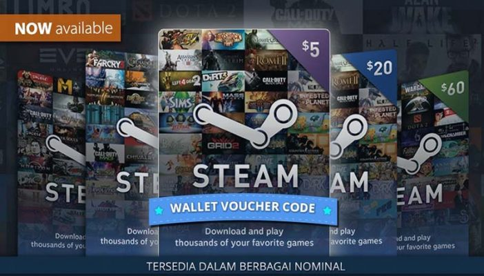خرید Steam Wallet (استیم والت)