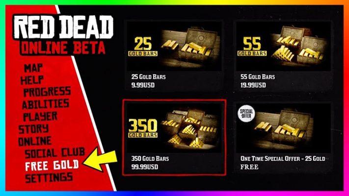 سی دی کی Gold Bars بازی RDR2 (پول داخل بازی)