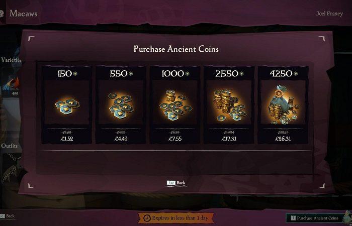 سی دی کی ANCIENT COINS Sea of Thieves | پول داخل بازی