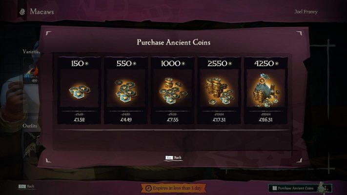 سی دی کی ANCIENT COINS Sea of Thieves   پول داخل بازی