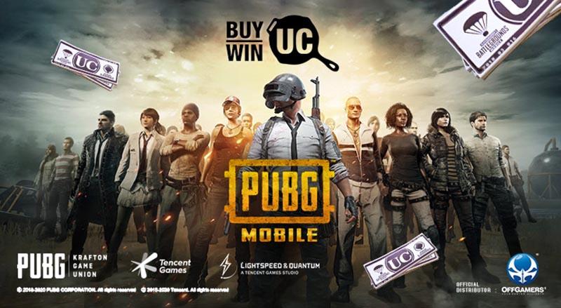 سی دی کی UC بازی PUBG Mobile (پول بازی پابجی موبایل)